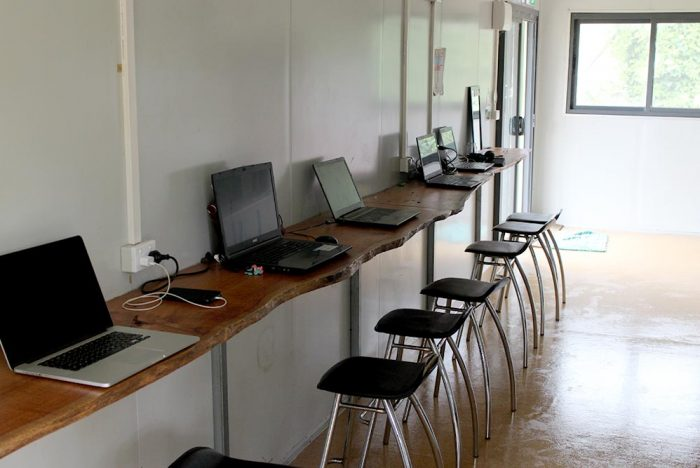 Computer room with Internet access